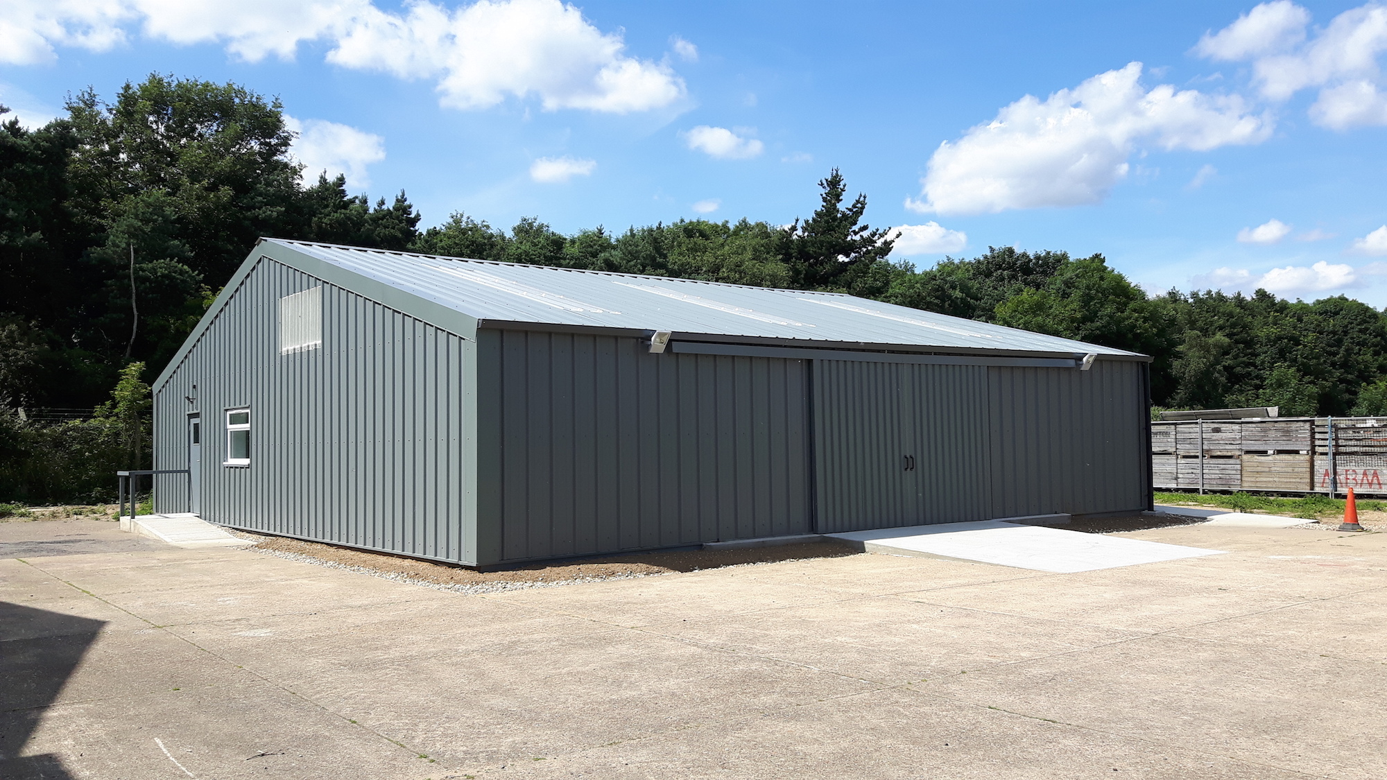 15-010-RAF-USAF-Washdown Shed-Barn-Industrial-Commercial-Finished-Warehouse-Conversion-Naturally Lit-External View-001.jpg